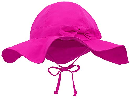 Strap Girls Sun Hat - Siero Baby Sun Protection Hat with UPF 50+ Adjustable Kids Cap, Rose 2-4 Years
