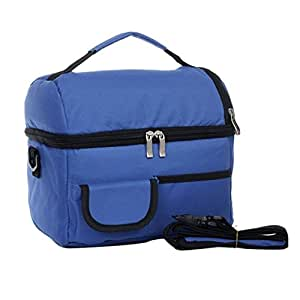 Bolsa Térmica Bandolera Con Aislamiento Para Porta Amimentos Azul