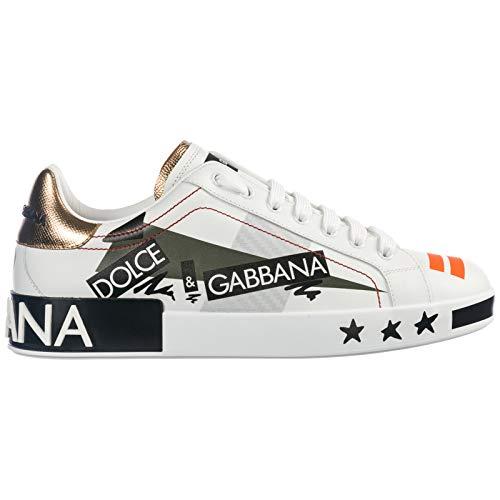 Dolce&Gabbana Men Portofino Sneakers Bianco 8 US
