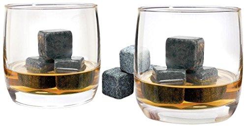 Luminarc Arc International Bar Craft on The Rocks 10 oz Whiskey Glasses (Set of 4) & 1 Bag (Whiskey Glasses And Stones)
