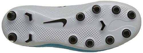 Nike Hypervenom Phelon Iii Ag-Pro, Botas de Fútbol Unisex Niños Varios colores (White / Black / Photo Blue / Chlorine Blue)