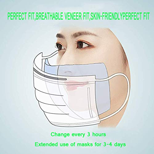 Lxf-xg Disposable Masks Gasket, Face Mask Replacement Pad,N95 Mask Unisex Replacement Parts, N95 Filter Replacement Filter Pads Respirator Mask for Most Mouth Mask,100pcs