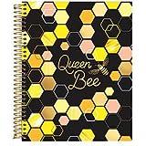 Paper Source, Queen Bee 9x11 Spiral Notebook, Lined Paper Notebook