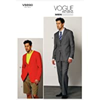 VOGUE PATTERNS V8890 Men's Jacket/Shorts and Pants Sewing Template, Size MUU (34-36-38-40)