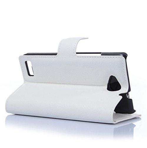 Funda ZTE Blade V7 lite,Manyip Caja del teléfono del cuero,Protector de Pantalla de Slim Case Estilo Billetera con Ranuras para Tarjetas, Soporte Plegable, Cierre Magnético H