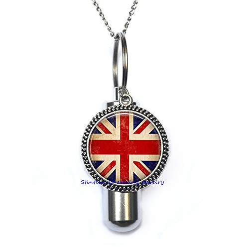 Union Jack URN, Union Jack, Union Jack Jewelry, British Flag URN, Great Britain-JP318 ()