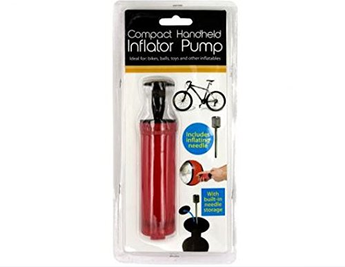 K&A Company Pump Compact Handheld Inflator Bike Mini Portable Light High Pressure Tire Small Air Balls Case of 72 by K&A Company