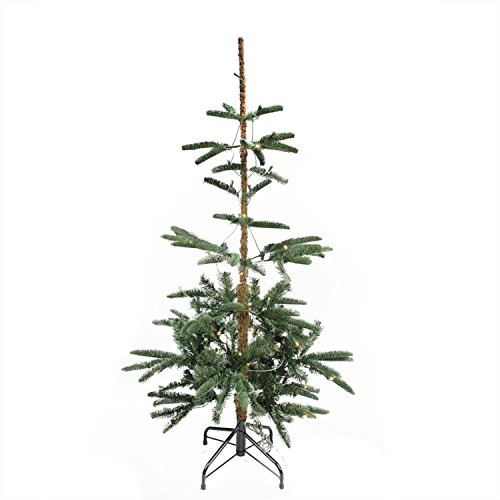 (Northlight Pre-Lit Layered Noble Fir Artificial Christmas Tree-Warm Clear LED Lights, 4.5', Brown)