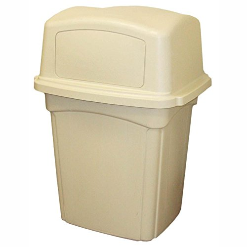 Continental 6452BE, Beige Colossus Receptacle with Two Doors, 45 gallon Capacity, 30-1/2'' Length x 25'' Width x 41-1/4'' Height (Case of 1) by Continental Commercial
