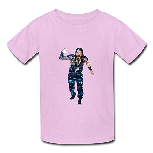Cartoon Crew Neck Child Boys And Girls T-Shirt Pink Size XS