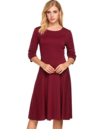 3 4 Length Sleeve Dresses - 1
