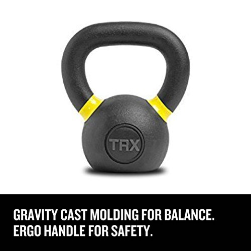 TRX Training Kettlebell, Gravity Cast with a Comfortable Ergo Handle, 6kg