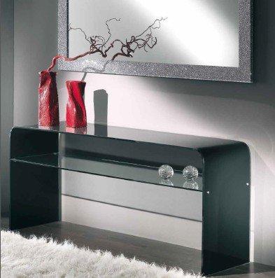 Mesa Consola de Cristal diseño Cristal Dormitorio salón salón Art ...