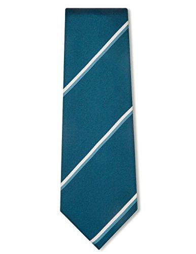 Origin Ties Men's Handmade Silk Tie Repp Striped Formal Business Necktie Blue