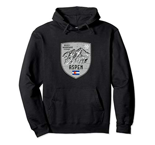 (Aspen Mountain Colorado Emblem Hoodie)