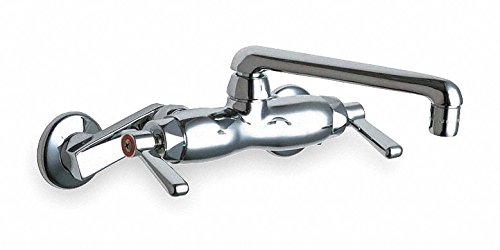 Chicago FAUCETS Swing Utility Sink Faucet, Lever Handle Type, Polished Chrome Finish ()