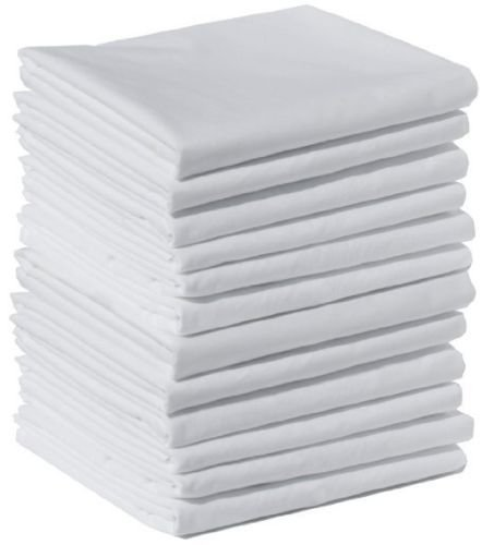 Globe House Products GHP 24-Pcs Solid White 20''x40'' King Size T-250 Percale Hotel Resort Spa Pillow Cases