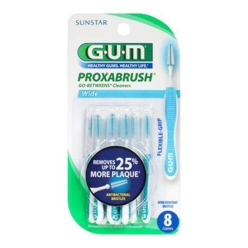 GUM Proxabrush Go-Betweens Cleaners Wide 8 EA - Buy Packs and SAVE (Pack of 5)