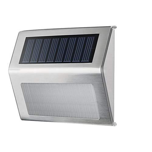 (FCXBQ Solar Wall Light, 3LED Triangle Stainless Steel/Solar Garden Light/Suitable for Corridor corridors, Garden Gates, Rooftop terraces, Courtyard Wall Villas, etc.)