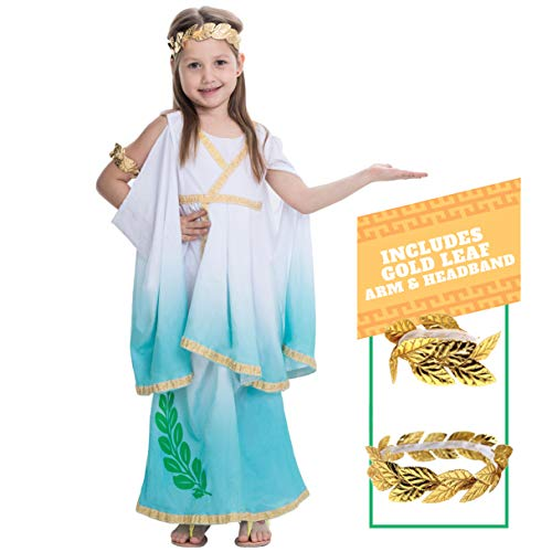 Spooktacular Creations Deluxe Greek Goddess Costume Set (M(8-10), Greek)
