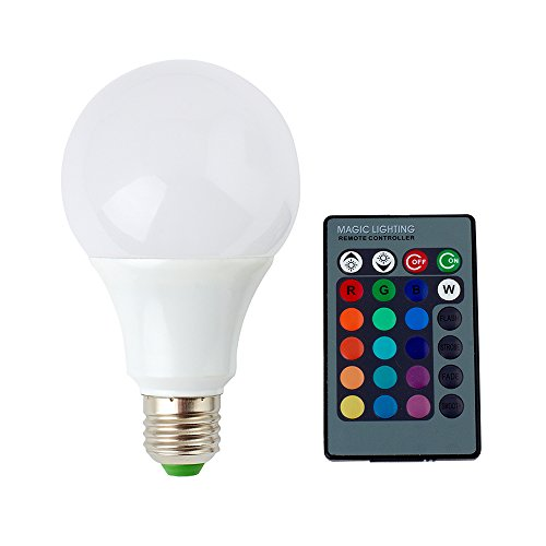 SUPERNIGHT - RGB Bulb with Remote Controller - 9W E27 LED Bulbs Dimmable Multi Color Changing Lamp Memory Function