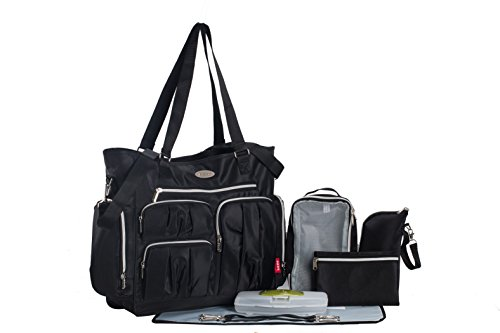 soho-collection-times-square-8-pieces-diaper-tote-bag-set-classic-black