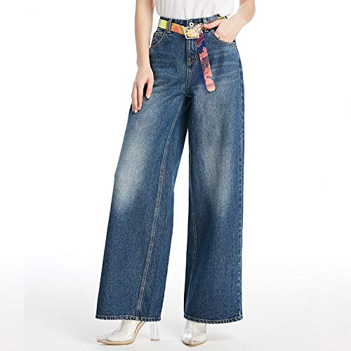 Vaqueros Pantalones Anchos Anchos Profundo XS de Jeans Pantalones MVGUIHZPO Pantalones XS Blancos Azul Mujer Pantalones ftEwwqT