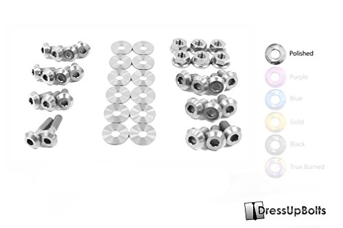Titanium Dress Up Bolts Engine Bay Kit for Subaru WRX & STi (2006-2007) (Polished) (Subaru Engine Bay Dress Up compare prices)