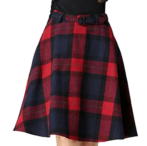 Vintage Wool Plaid Skirt - 3
