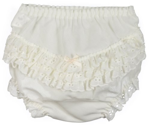 I.C. Collections Little Girls Ecru Batiste Rumba Panties, Size 02 Girls Cotton Batiste