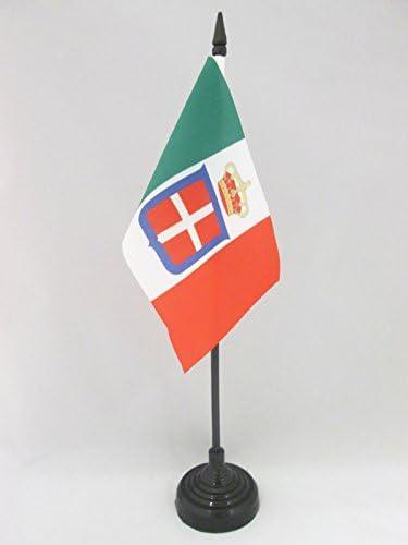AZ FLAG Bandiera da Tavolo Regno dItalia Corona 15x10cm Piccola BANDIERINA Reale Italiana 10 x 15 cm
