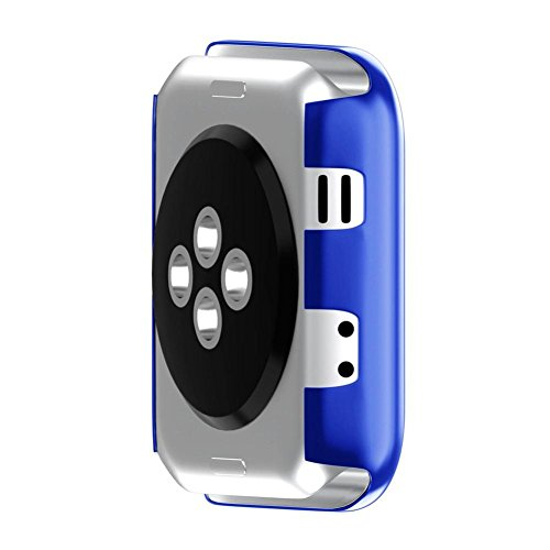 Apple Watch 3 42mm Case, SUKEQ Ultra Thin Electroplate PC Hard Case Cover All Around Full Screen Protector Coverage For Apple Watch Series 3 42mm (Blue) by SUKEQ (Image #4)