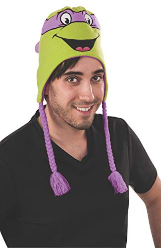 Rubie's Men's Teenage Mutant Ninja Turtles Donatello laplander Hat, As Shown, One Size -