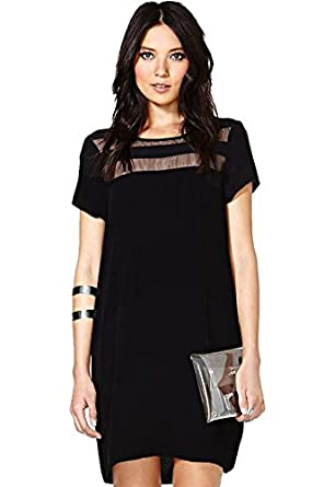 8778e154736e7 (深セン アイビー詩) SZIVYSHI ラウンド ネック半袖クラブ パーティー ドレス ファッション女性ミニドレス