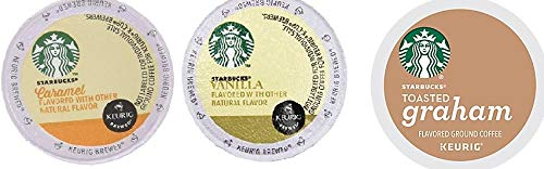 Starbucks Flavored Coffee K-Cups for Keurig Brewer 48 Count Flavored Variety Pack (Starbucks Mocha K Cups)