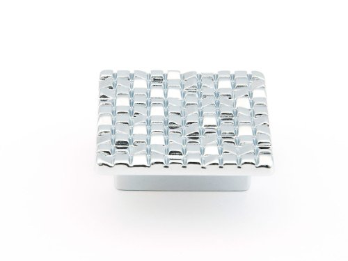 Schaub Mosaic Collection 1-7/8 in. (48mm) Square Knob, Polished Chrome - 234-26 - Mosaic 32 Mm Square