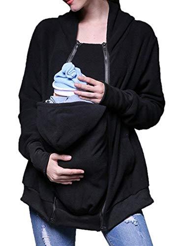 Buon Invernali Nuovo Elegante Premaman Outerwear Mercato Outwear Plus Giacche Kängurujacke Schwarz Donne Giubbino Prodotto A Cheap Autunno Donna Curvy Il Jacket Da Giacca Moda Cappotto gnU6U4