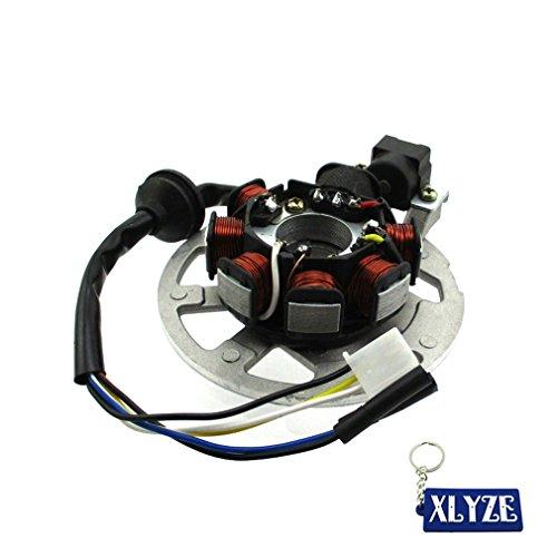 XLYZE 7 Coil 5 Wire Magneto Stator For Keeway Fact Hurricane Matrix RY8 PGO 50cc 90cc 2 Stroke (Keeway Hurricane)