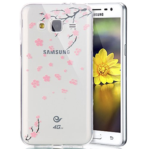 Funda para Samsung Galaxy J3/J3(2016), Ukayfe Suave Carcasa Caso Parachoques Diseño pintado Patrón para Samsung Galaxy J3/J3(2016),Funda Case Lujo Premium Bling Caja PC Dura Ultra Fina Cubierta Matt G Flor