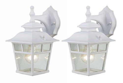Canarm IOL183TWH-C Fieldhouse Outdoor Lantern Twin Pack, White [並行輸入品] B07R8PWZ68