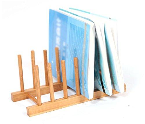 - Creative Bamboo Small Bookshelf. Simple Table Shelf Cup Holder Drain Bowl Holder Bill Holder Storage Rack