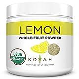 KOYAH - Organic USA Grown Lemon Powder (1 Scoop = 1 Lemon Wedge): 80...