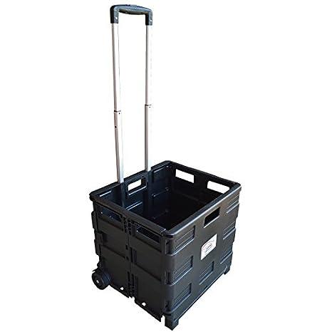 Carrito de transporte MP Essentials. Carrito de transporte, capacidad de 40 kg, ideal para las compras y campamento negro