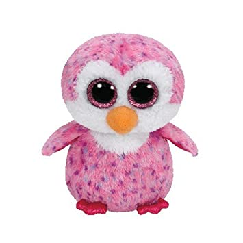 Ty - Beanie Boos Glider, pingüino, 23 cm, Color Rosa (United Labels