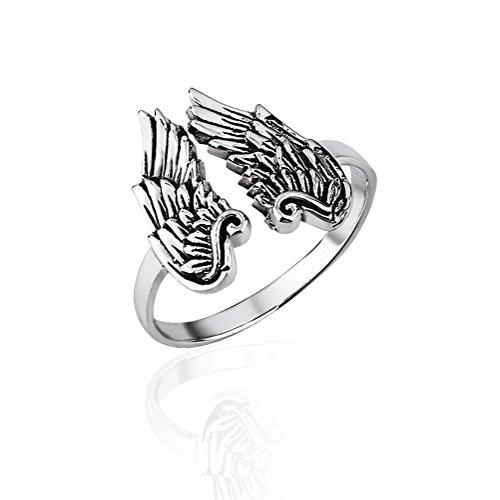 angel wings ring - 5