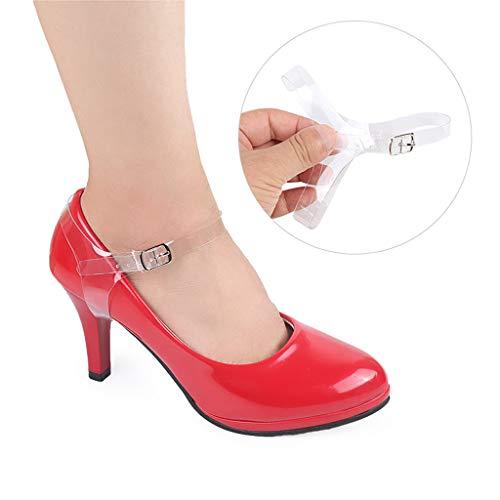 Invisibles À Chaussure En Pour Des P Amovibles Maintenir Talons Prettyia Chaussures Hauts Place Plates De Sangles Transparentes Laches FF0XzO