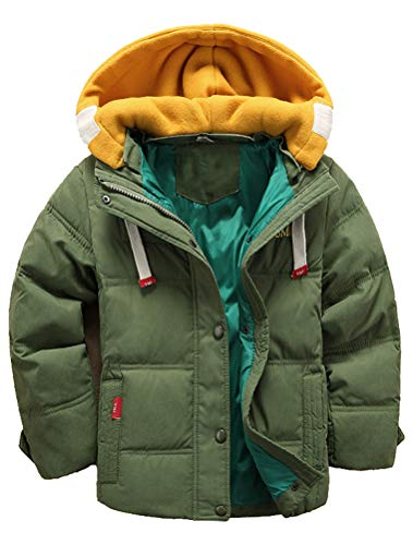 Odziezet Jongens Jassen met capuchon Gewatteerde jongensjas met capuchon voor de winter van 4-13 jaar