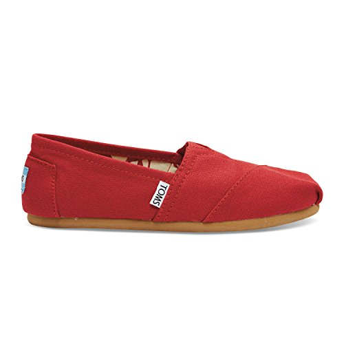 Toms Womens Red Canvas Classic 001001b07-rosso
