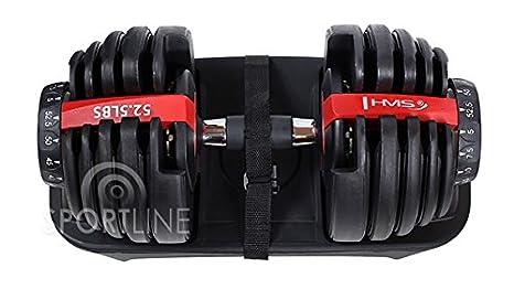 Mancuernas ajustables Juego de 15 pesas a Selección variable hasta 24 kg: Amazon.es: Deportes y aire libre