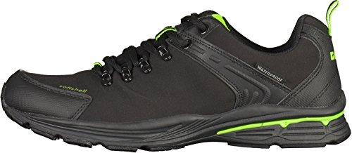 Killtec Hombres Artali al aire libre y el ocio zapato 27.708 a 00200 negro, tamaño 41-46, impermeable, softshel schwarz